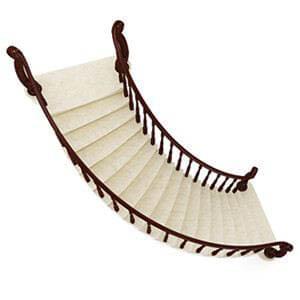 Облицовка плиткой лестницы 140