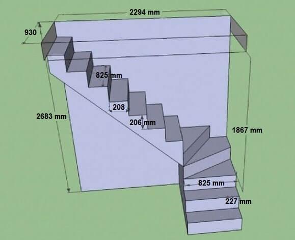 Лестница на второй этаж своими руками расчет7