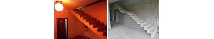 Фото одномаршевой и двухмаршевой прямых лестниц