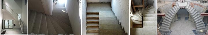 Фото поворотных лестниц разной конфигурации