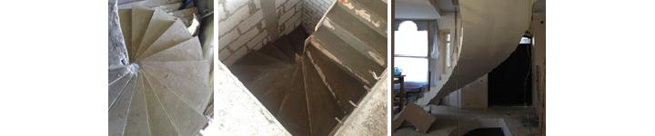 Фото разных видов криволинейных лестниц