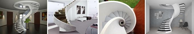 Фото винтовых лестниц разных форм и конструкций