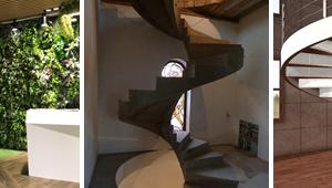 Фото фасадной и интерьерной винтовых лестниц