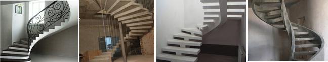 Гладкошовная конструкция, с двойным каркасом, на косоуре, на двух тетивах