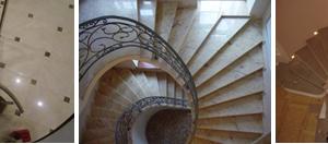 Спиралевидная лестничная конструкция остается элегантной, какой бы материал для облицовки ее ступеней не использовался: дерево, камень, ковролин)