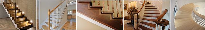 Фото монолитных лестничных конструкций с деревянной облицовкой