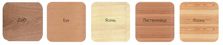 Фото образцов деревянных панелей из разных пород