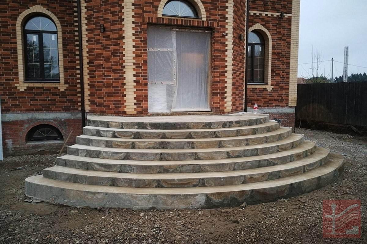 сетки фото монолитных уличных лестниц прямые