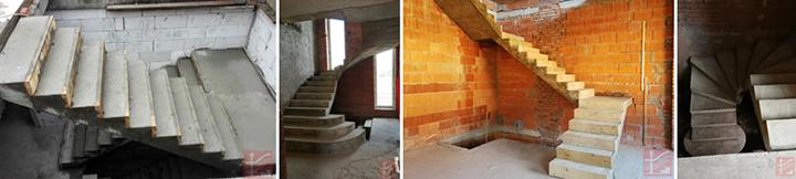 Фото П-образных бетонных лестниц