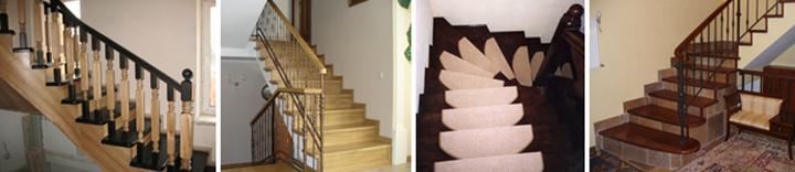 Фото монолитных лестничных конструкций с разной облицовкой