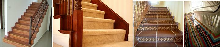Фото монолитных лестничных конструкций с облицовкой ламинатом, ковролином, клинкерной плиткой, краской